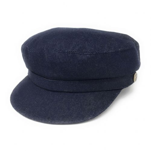 Navy Blue Denim Fisherman Cap